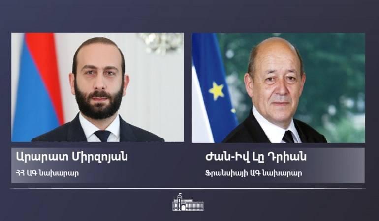 Le ministre de l'Europe et des Affaires étrangères de France a adressé un message de félicitations à Ararat Mirzoyan