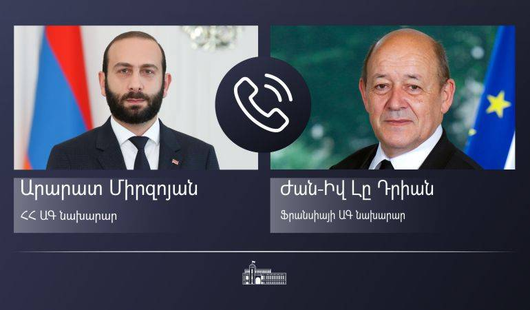 Phone conversation of the Ministers of Foreign Affairs of Armenia and France