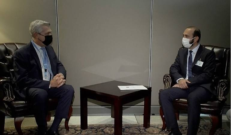 Meeting of Foreign Minister Ararat Mirzoyan with the UN High Commissioner for Refugees Filippo Grandi