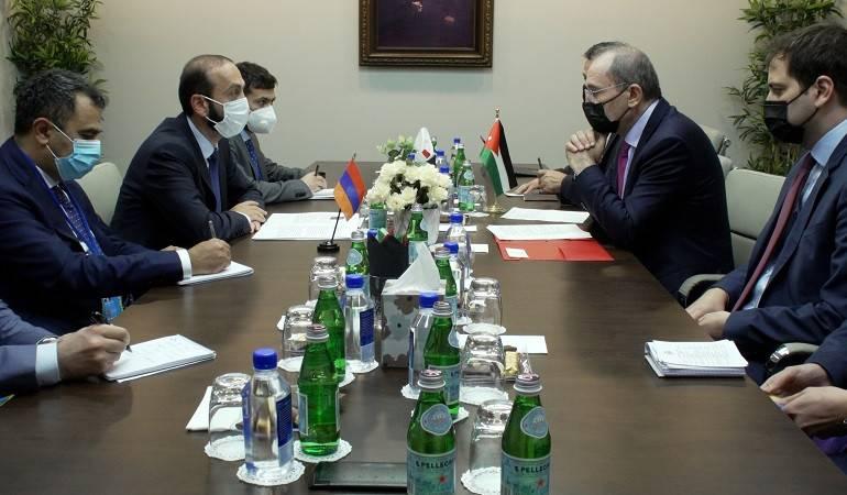 Meeting of Minister of Foreign Affairs of Armenia Ararat Mirzoyan with Deputy Prime Minister and Minister of Foreign Affairs and Expatriates of the Hashemite Kingdom of Jordan Ayman Safadi