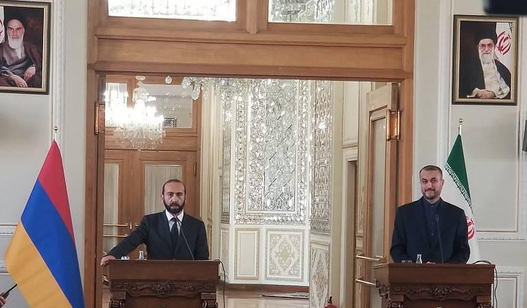 Речь  министра иностранных дел РА Арарата Мирзояна на совместном заявлении для прессы с министром иностранных дел ИРИ Хоссейном Амир Абдоллахианом