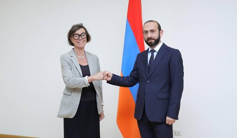 Министр иностранных дел Армении Арарат Мирзоян принял специального представителя председателя ОБСЕ по вопросам Южного Кавказа