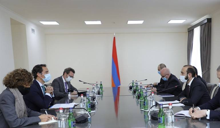 The meeting of Minister of Foreign Affairs of Armenia Ararat Mirzoyan with the NATO Secretary General's Special Representative for the Caucasus and Central Asia