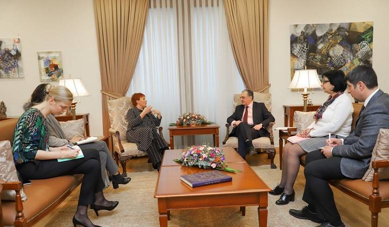 The Foreign Minister of Armenia received the NATO Secretary General's Special Representative for Women, Peace and Security