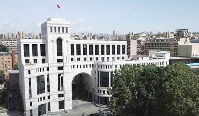 Statement by Foreign Ministry of Armenia on the decision adopted by the Chamber of Deputies of Italy on the Armenian Genocide