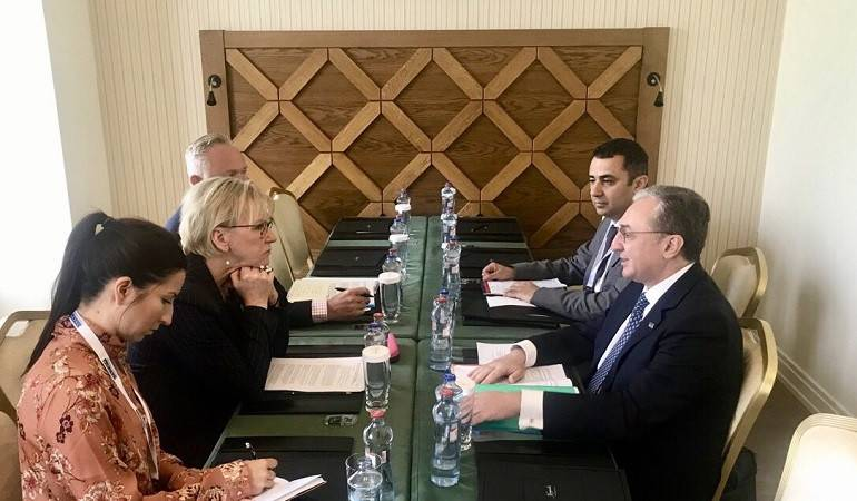 The Armenian Foreign Minister met with the OSCE Office for Democratic Institutions and Human Rights (ODIHR)