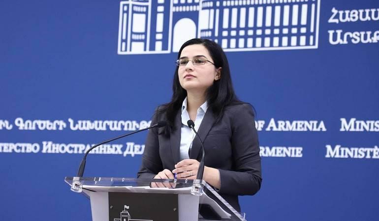 Déclaration du porte-parole du ministère des Affaires étrangères d'Arménie  à l'occasion du 100e anniversaire des pogroms des Arméniens à Agulis
