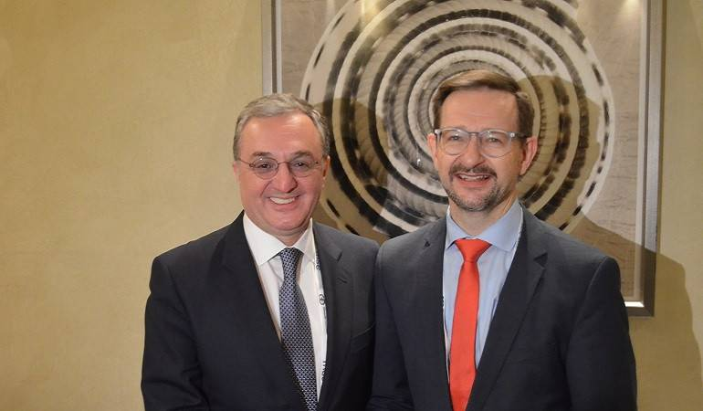 Встреча Министра иностранных дел Армении Зограба Мнацаканяна с Генеральным секретарем ОБСЕ Томасом Гремингером