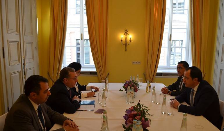 Foreign Minister Zohrab Mnastakanyan's meeting with Nikos Christodoulides,  the Minister of Foreign Affairs of the Republic of Cyprus.