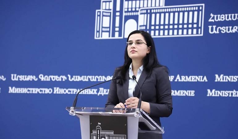 ՀՀ ԱԳՆ մամուլի խոսնակի պատասխանը Ադրբեջանի ԱԳՆ հայտարարության վերաբերյալ հարցին