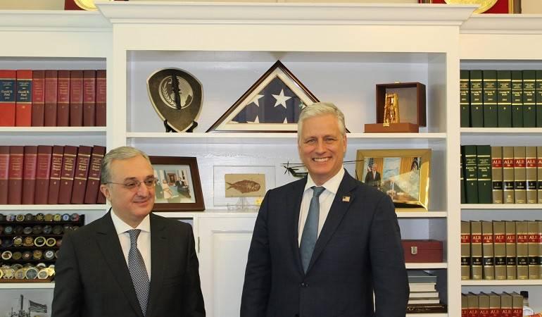 Արտգործնախարար Զոհրաբ Մնացականյանի հանդիպումը ԱՄՆ Ազգային անվտանգության հարցերով խորհրդականի հետ