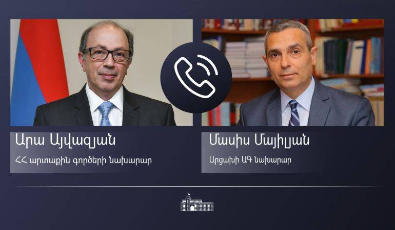 Phone conversation of the Foreign Minister Ara Aivazian with the Foreign Minister of Artsakh Masis Mayilian