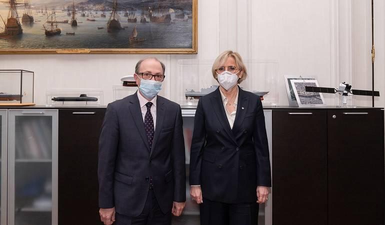 Rencontre du ministre arménien des Affaires étrangères Ara Ayvazyan à l'Assemblée nationale française