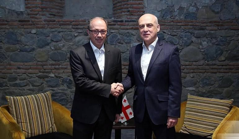 Հայաստանի ԱԳ նախարար Արա Այվազյանի հանդիպումը Վրաստանի ԱԳ նախարար Դավիդ Զալկալիանիի հետ