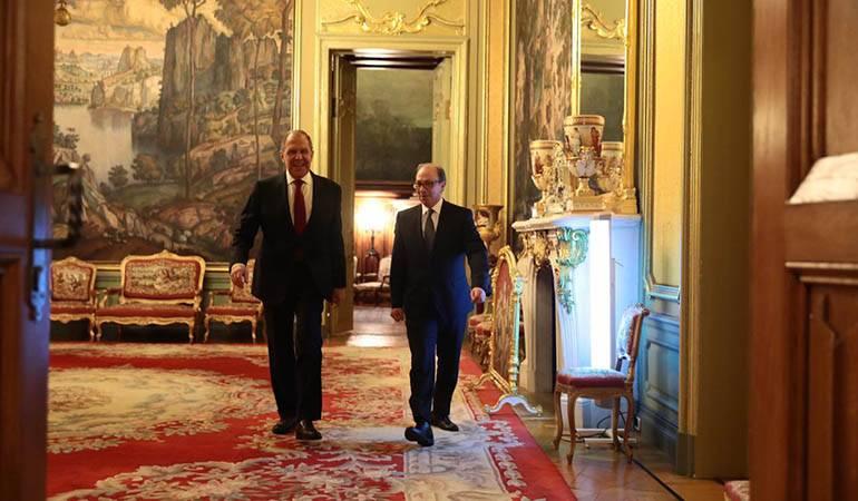 Встреча главы МИД РА Ара Айвазяна с министром иностранных дел РФ Сергеем Лавровым