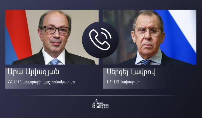 Phone conversation of Acting Foreign Minister of Armenia Ara Aivazian with Foreign Minister of Russia Sergey Lavrov