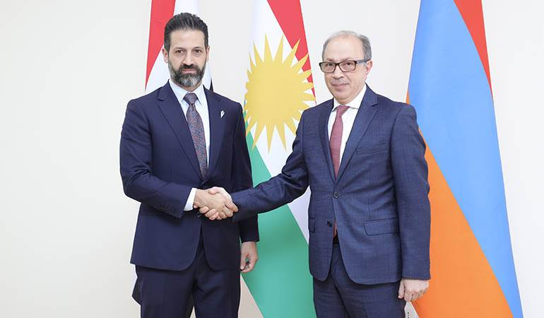 Acting Minister of Foreign Affairs of the Republic of Armenia Ara Aivazian held a meeting with Qubad Talabani, Deputy Prime Minister of the Regional Government of Iraqi Kurdistan
