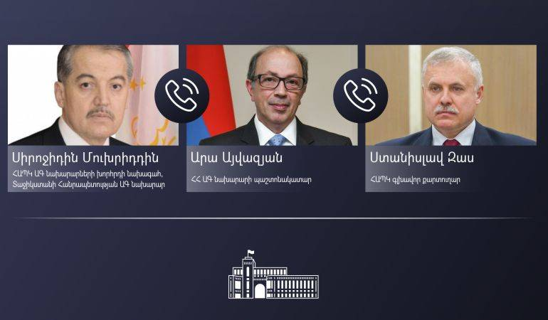 Acting Foreign Minister Ara Aivazian held phone conversations with the Chairperson of the CSTO Council of Foreign Ministers and the CSTO Secretary General