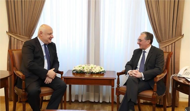 Le Ministre des Affaires étrangères d'Arménie a reçu le Président de l'Assemblée parlementaire de l'OSCE